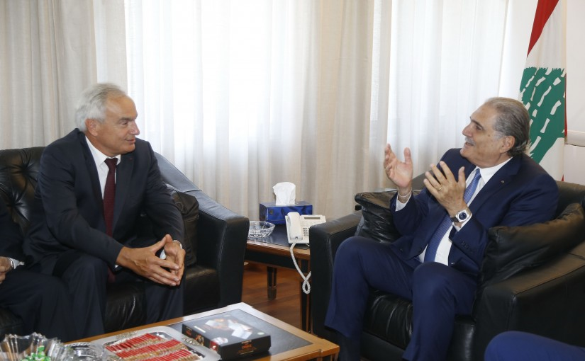 Minister Selim Jraysati meets Mr Jean Mary Ouran