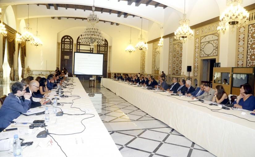 Meeting for Rafic Hariri Beirut Airport at the Grand Serail