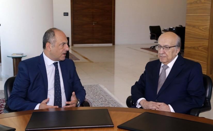 Minister Pierre Bou Assi Meets Dr Joseph Tarabay