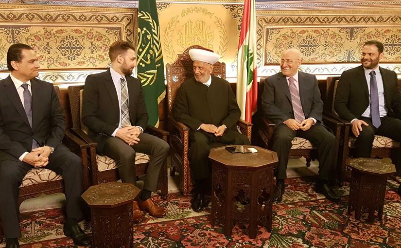 Mufti Abdel Latif Derian Meets MP Taymour Jumblat