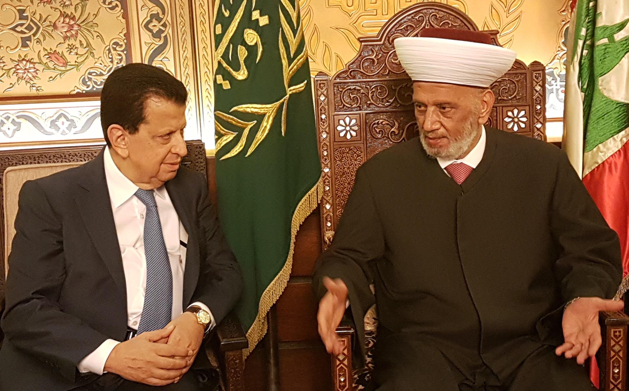 المفتي دريان مع النائب السابق محمد الامين عيتاني 11-10-2018