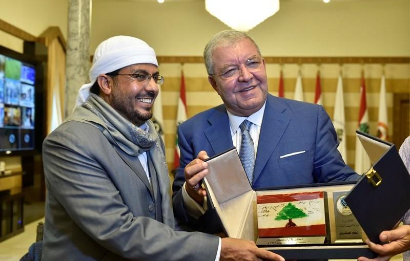 Minister Nouhad El Machnouk Meets Dr Ahmad Atiyeh Yemen Minister of Awkaf