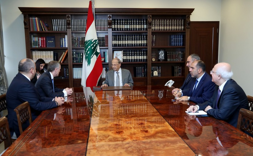 President Michel Aoun meets a Delegation of Norwegian Kornea company