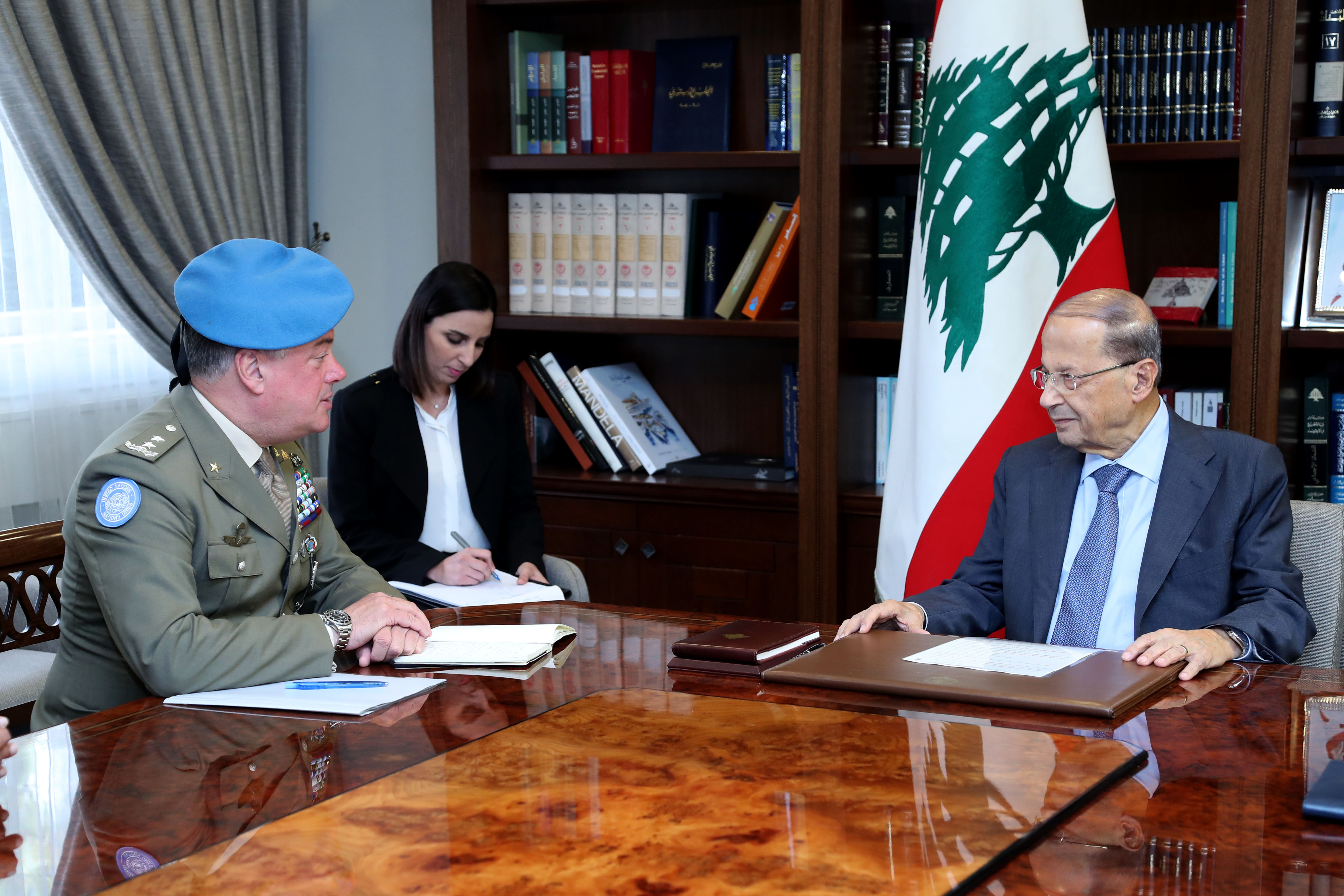 2 - Head of Force Commander of the United Nations Interim Force in Lebanon Major General Stefano Del Col