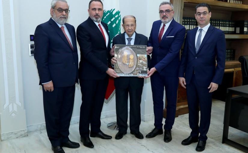 President Michel Aoun meets MP Agop Pakradounian With Delegation