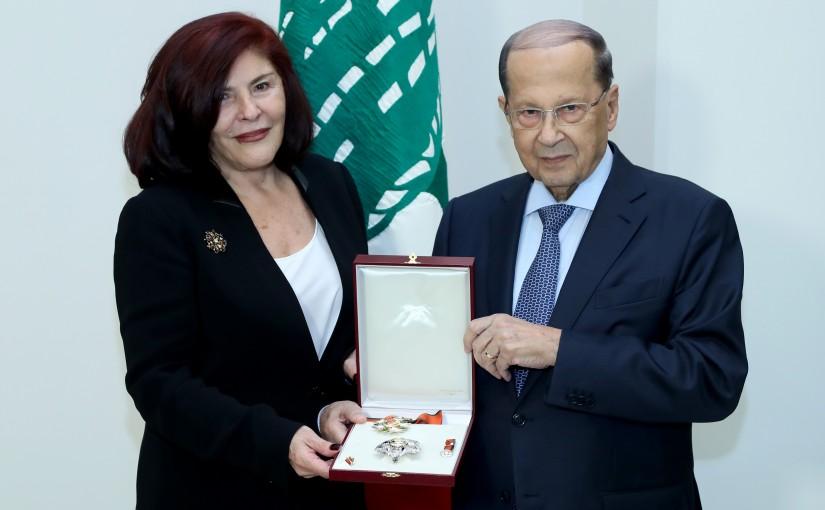 President Michel Aoun meets Ambassador Souad Karam
