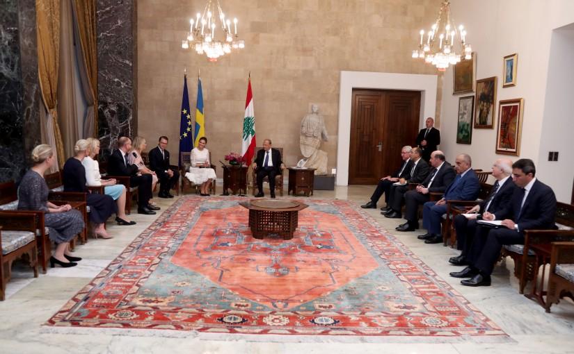 President Michel Aoun meets HRH Crown Princess Victoria of Sweden