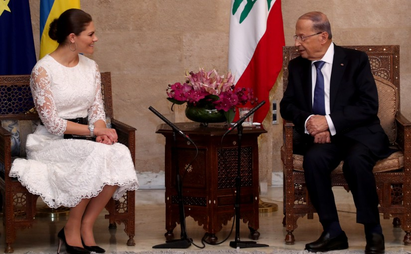 President Michel Aoun meets HRH Crown Princess Victoria of Sweden