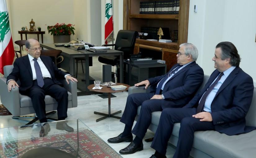 President Michel Aoun meets MP Mario Aoun & MP Roger Azar