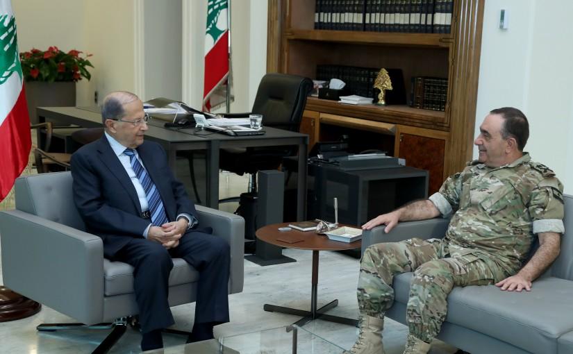 President Michel Aoun meets General Hatem Mallak