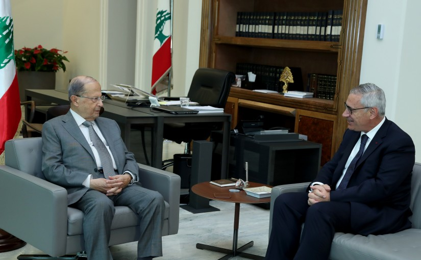 President Michel Aoun meets Head of Judicial Council Judge Jean Fahed