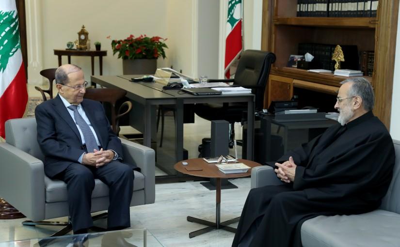President Michel Aoun meets Mgr. Shafiq Abou Zaid