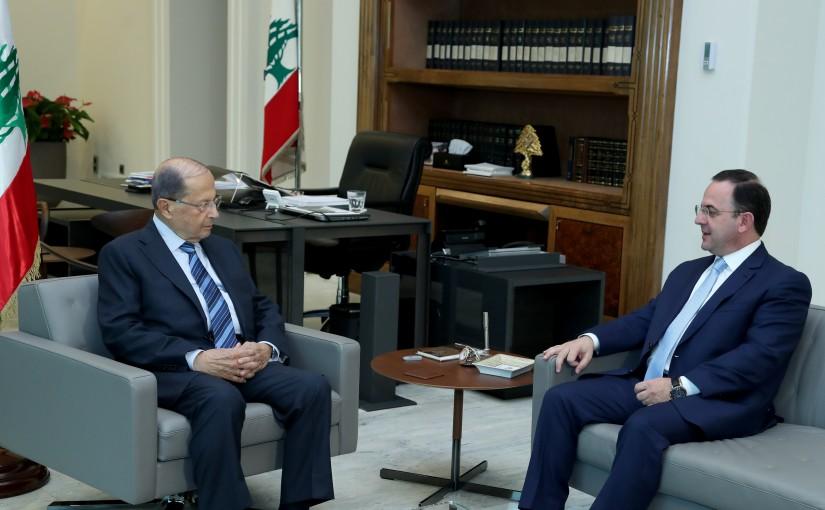 President Michel Aoun meets Minister Avedis Kadanian