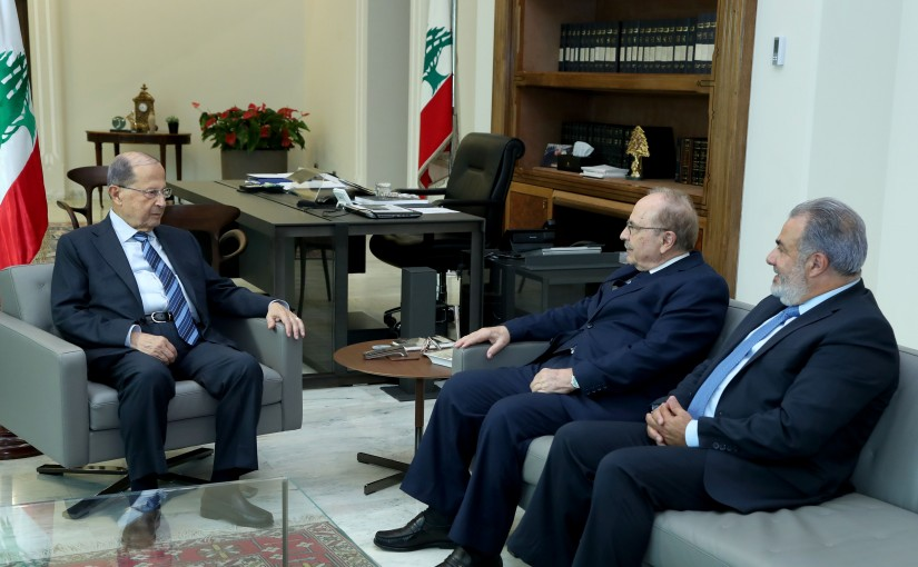 President Michel Aoun meets Mr Hana el Nachef & Mr Kaissar Obeid