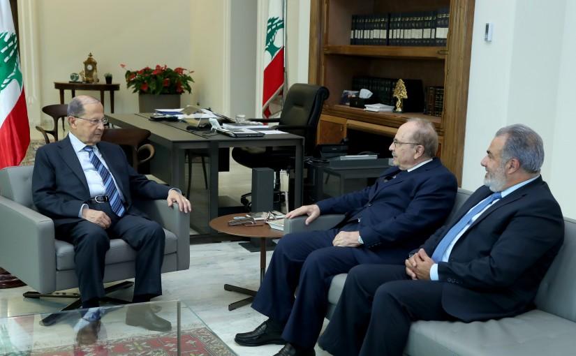 President Michel Aoun meets Mr Hana el Nachef & Mr Kaissar Obeid