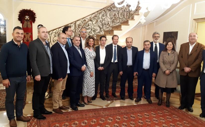 Minister Hussein Hajj hassan Visits Rome