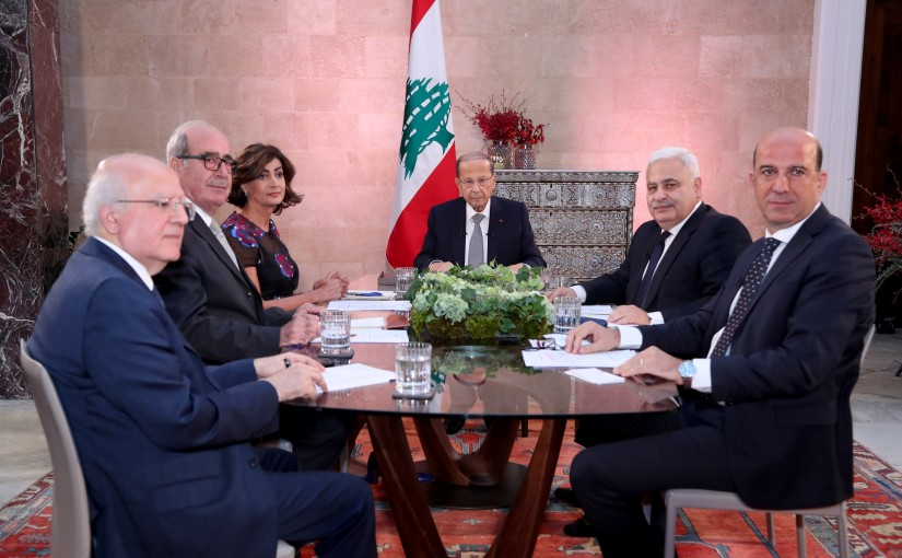 Dialogue with the President Michel Aoun on the occasion of the passing of a 2 year on his election