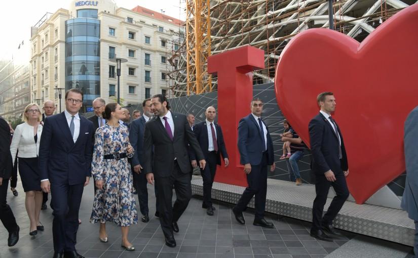Pr Miniser Saad Hariri Visits Beirut Souks