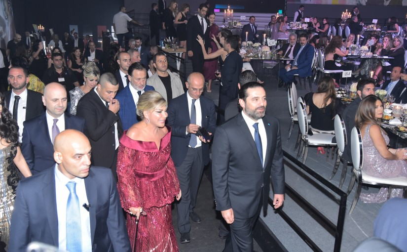 Pr Minister Saad Hariri Attends a Diner for May Foundation at Biel