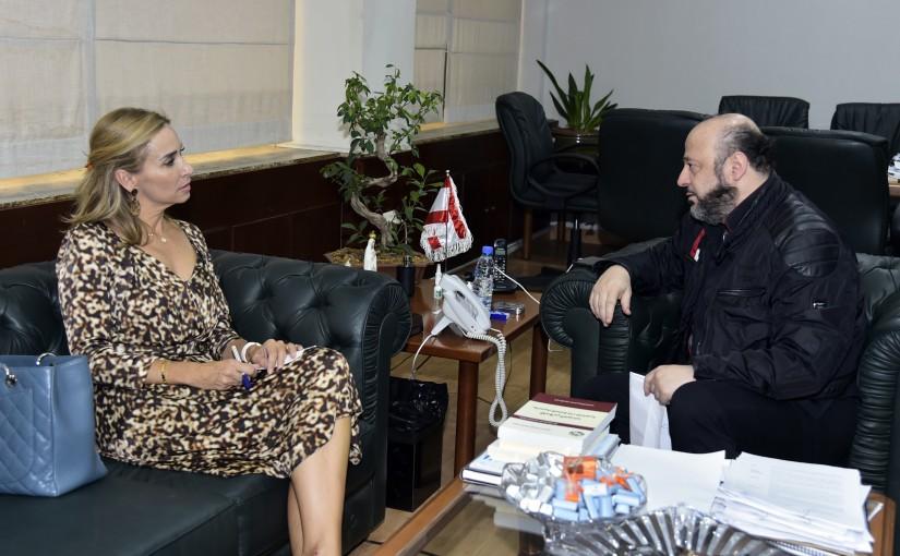 Minister Melhem Riachi meets Suisse Ambassador
