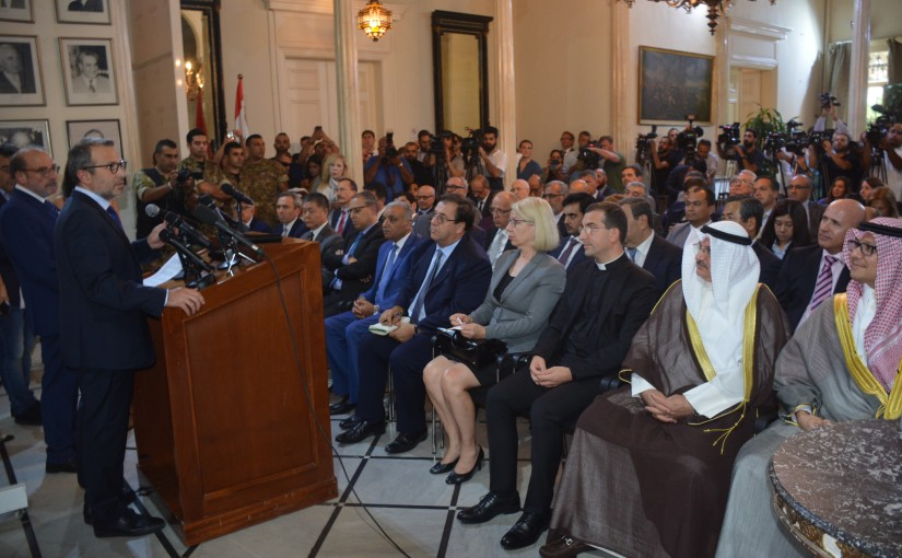Ministers Gebran Basil Meets with The Ambassadors at The Ministry of Foreign Affairs