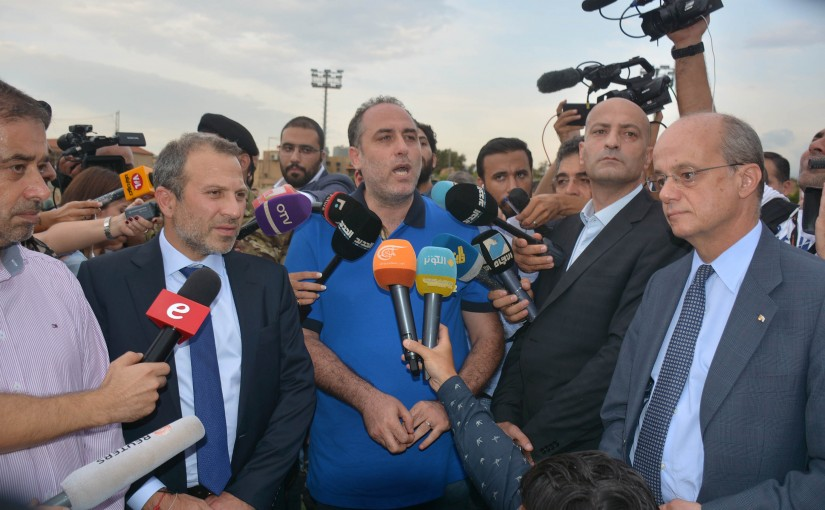 Minister Gebran Basil inspects Along with a Number of Ambassadors Beirut Airport Area