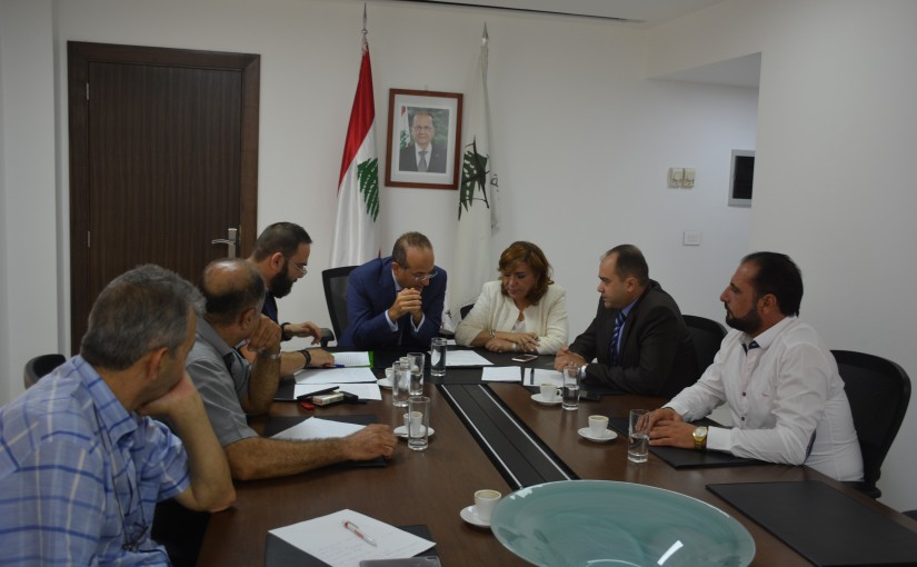 Minister Raed Khoury Meets a Delegation From Generators Owners