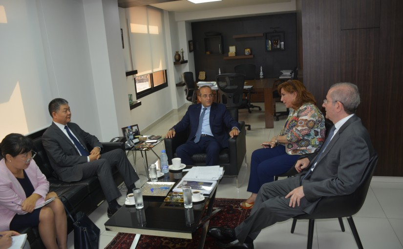 Minister Raed Khoury meets Chinese Ambassador