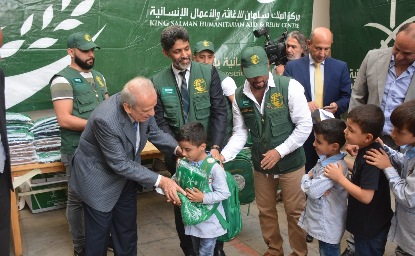 Minister Marwan Hemade delivered Bags at Beirut School