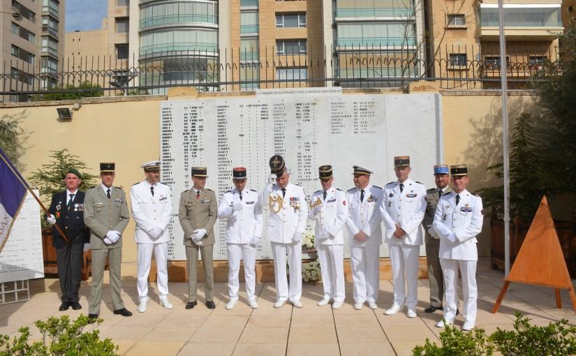 Ceremony held in memory of the French military