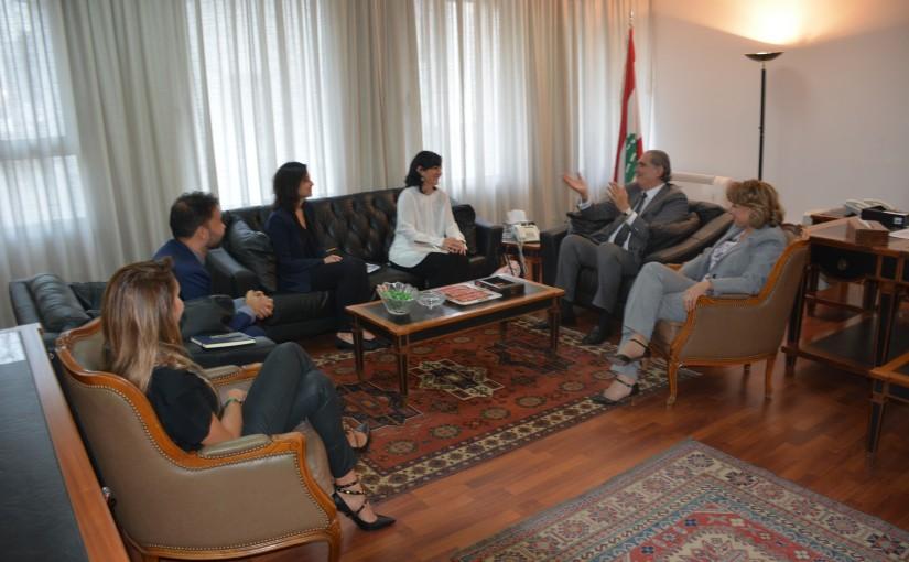 Minister Selim Jraysati meets a Delegation from Lebanese  STC