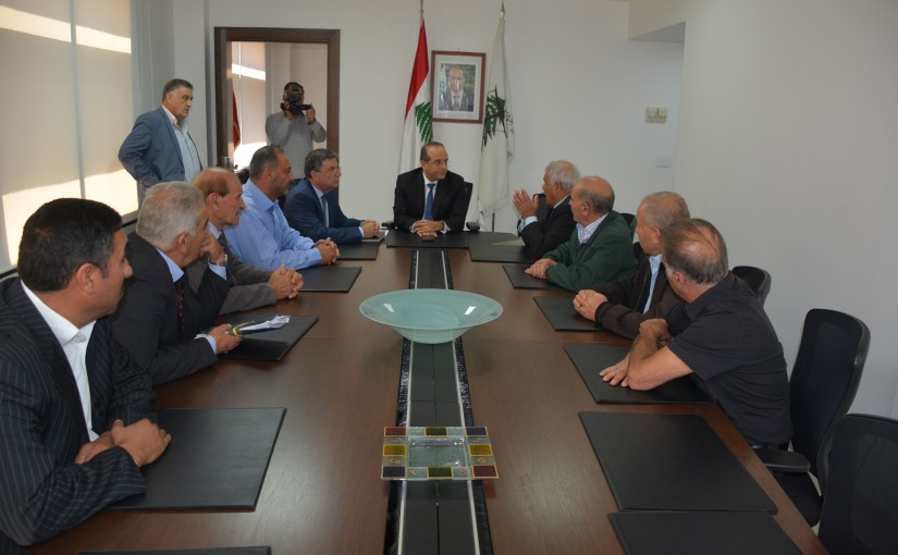 Minister Raed Khoury meets a Delegation from Milk Factory