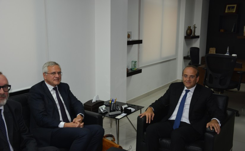 Minister Raed Khoury meets Belgium Ambassador