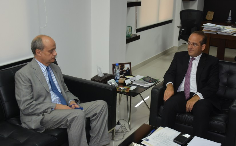 Minister Raed Khoury Meets Spain Ambassador