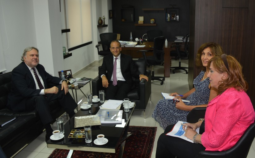 Minister Raed Khoury Meets Greek Deputy Minister of Foreign Affairs