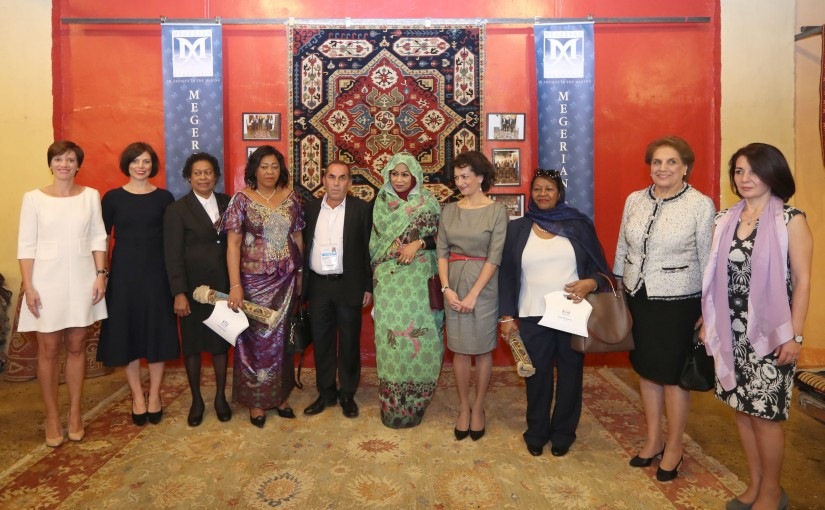 The First Lady Nadia Aoun Visits Carpet Exhibition.