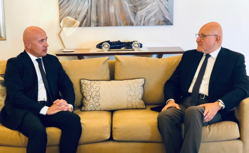 Former Pr Minister Tammam Salam meets Argentine Ambassador