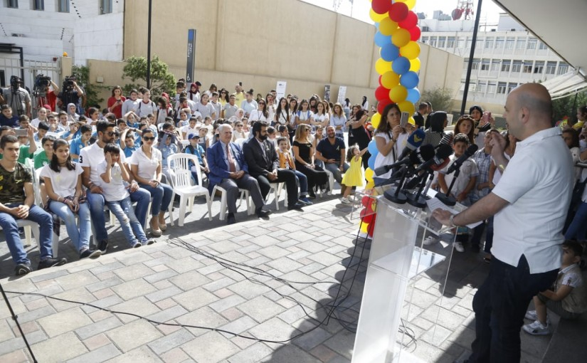 """Under the patronage of Deputy Prime Minister and Minister of Public Health Ghassan Hasbani, the National Day for Fighting Childhood Obesity is organized under the title """"Sawa for Better Health"""""""