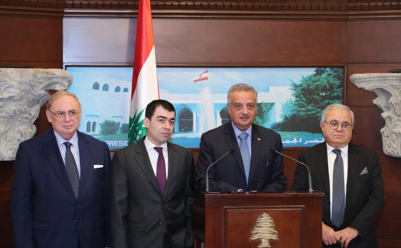 Press Conference for Minister Talal Erslan