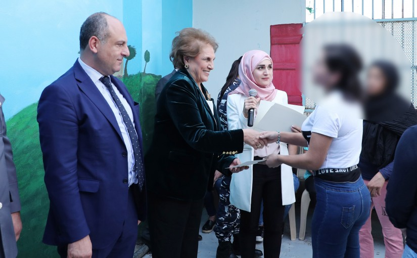 The First Lady Nadia Aoun Visits Baabda Prison for Women
