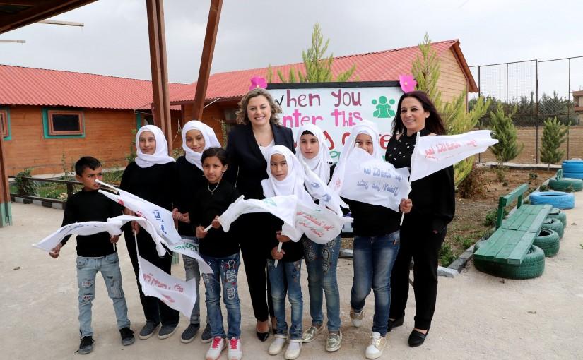 Mrs Claudine Aoun Visits Lebanese University of Literature in Zahle