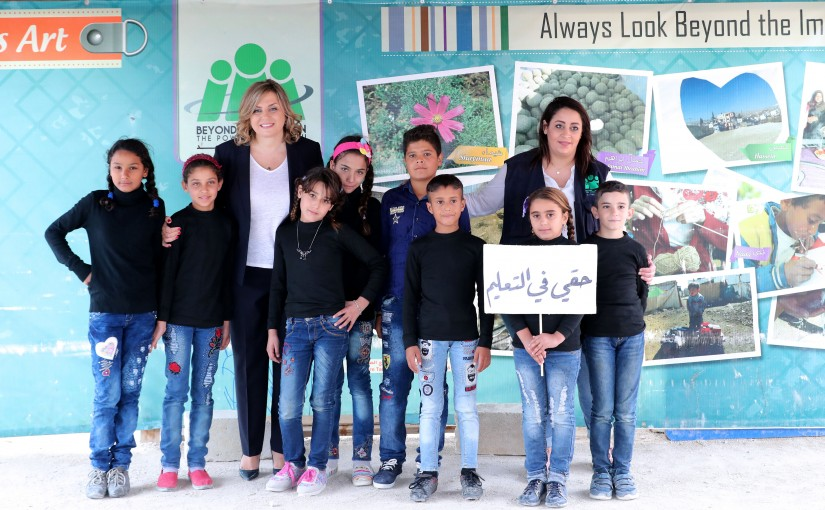 Mrs Claudine Aoun Visits Lebanese University of Literature in Zahle