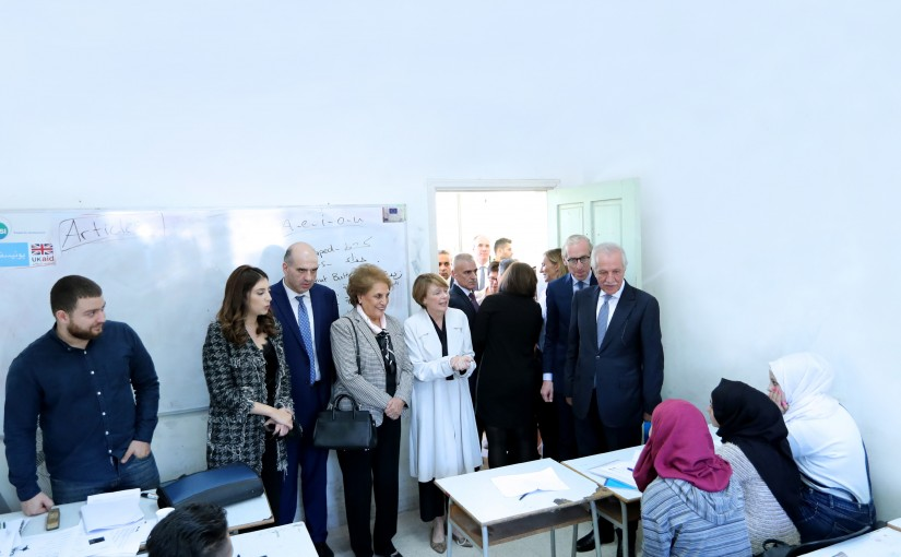 The First Lady Nadia Aoun at Agricultural vocation education & training for the most vulnerable youth in lebanon