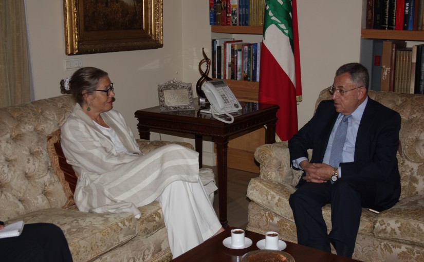 Former Pr Fouad Siniora Hariri meets Mrs Pernille Darrell