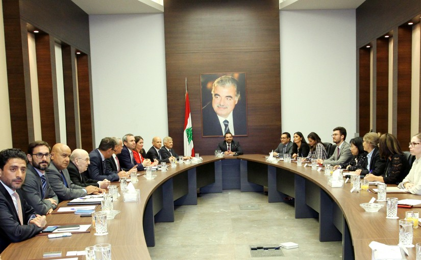 Pr Minister Saad Hariri meets a Delegation from Lebanese Support Country