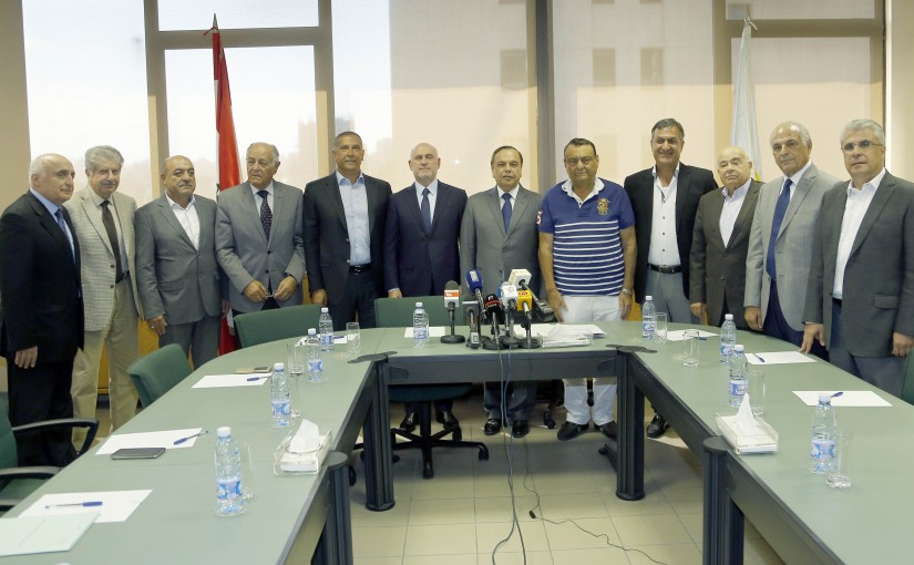 Minister Youssef Fenienos meets a Delegation from Union Contractor