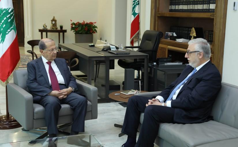 President Michel Aoun Meets MP Jihad Samad