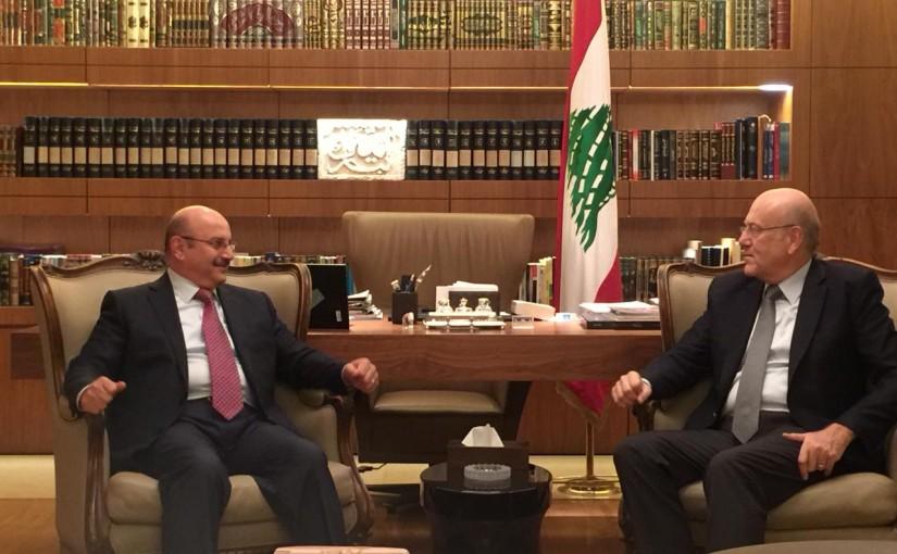 Former Pr Minister Najib Mikati meets Kuwaiti Ambassador