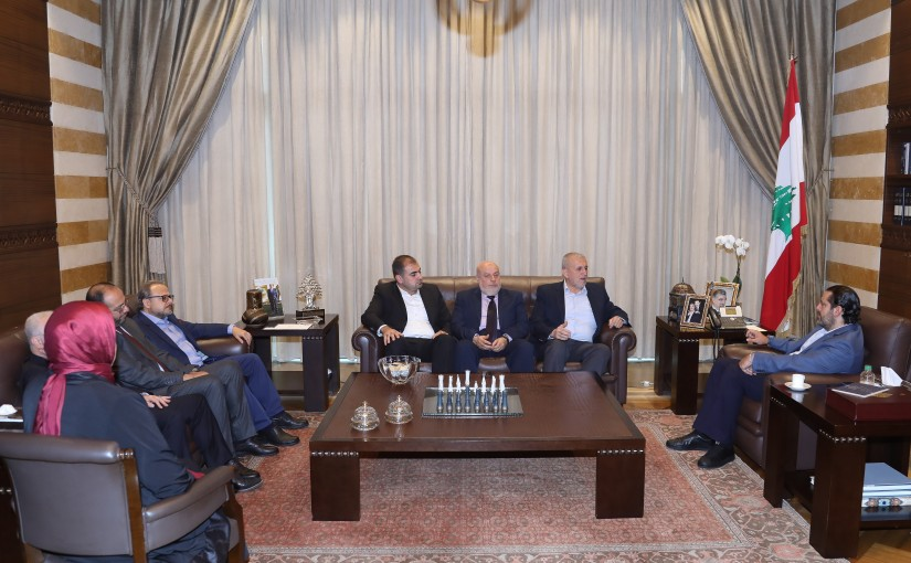 Pr Minister Saad Hariri meets a Delegation from Mr Jamal Mehio with a Delegation
