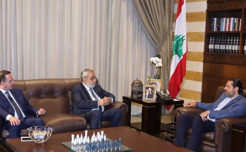 Pr Minister Saad Hariri meets MP Aghob Pakradounian & Minister Avedis Kadanian